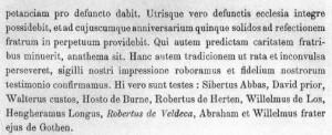 Kempeneers 1913 Robertus de Veldeca