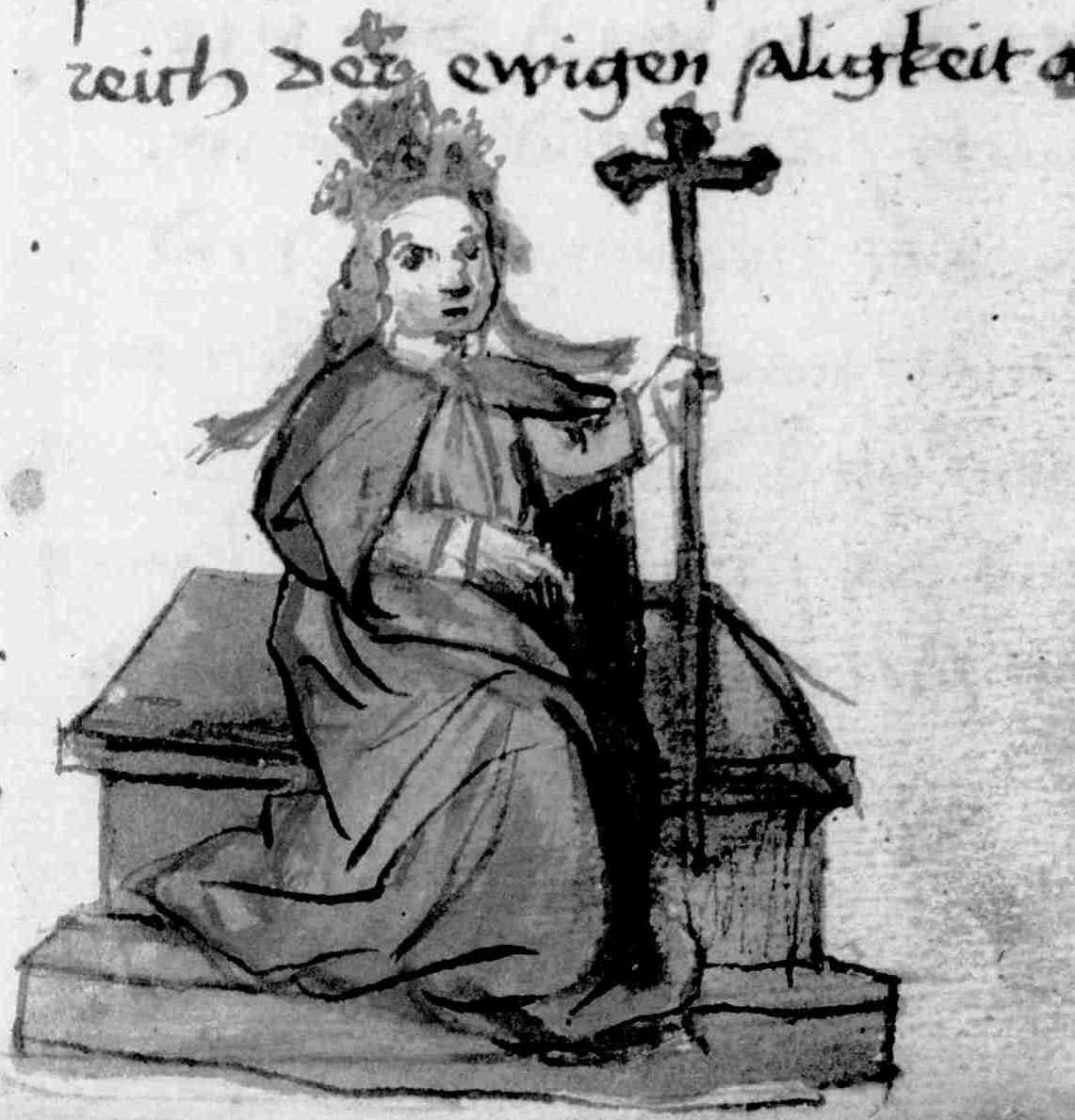 Gregorius auf dem Stein (M24 Bl. 8r)