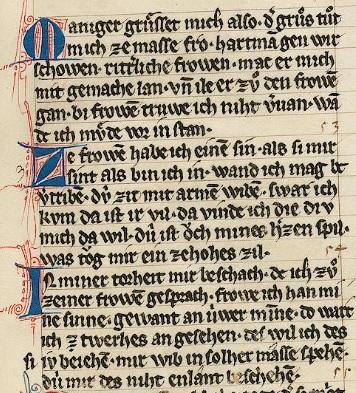 Hartmann Liederhandschrift C 187r